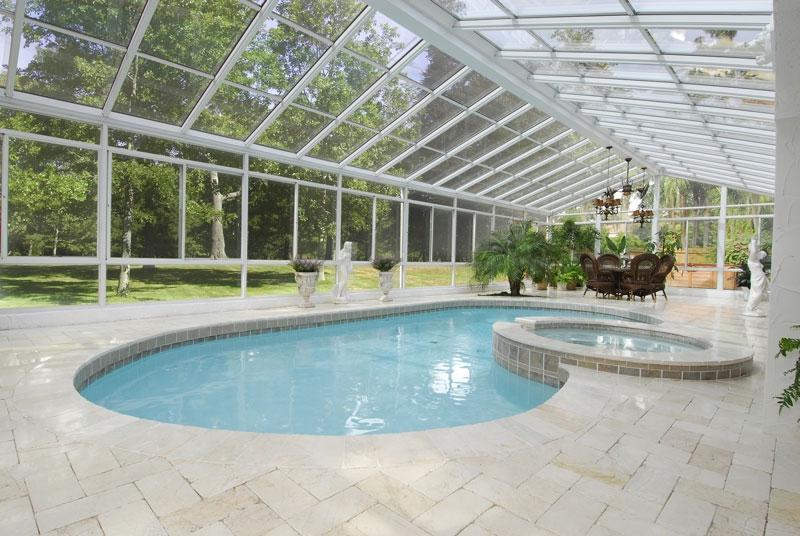 Pool enclosures sunrooms n more - Do it yourself swimming pool kits ...